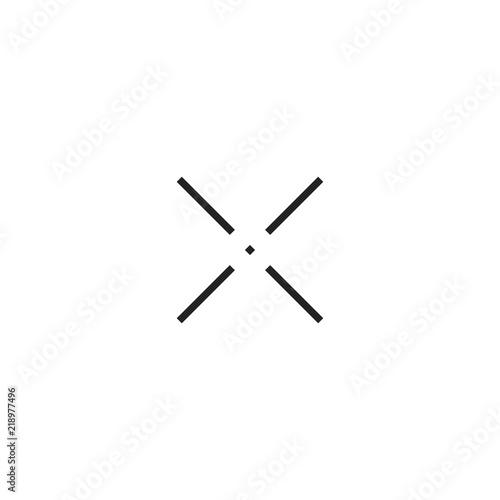 Crosshair Cursor Pointer Icon Vector