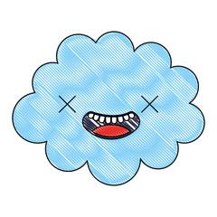 kawaii cloud cartoon character comic