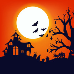 Design for halloween day and card or background