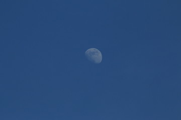 moon with blue sky background