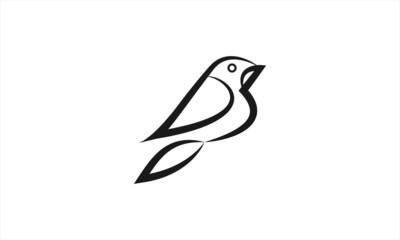 Bird Logo Design (Vector illustration)