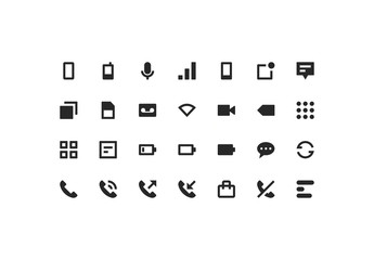 Phone & Network Icon Set