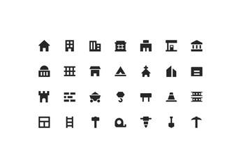 Building & Construction Icon Set