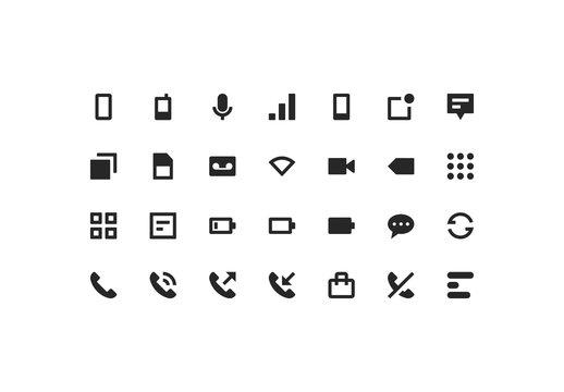 Phone & Network Icon Set