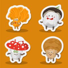 Funny mushroom emoticon, avatar