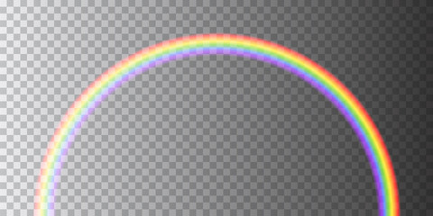Colorful realistic transparent rainbow - vector object