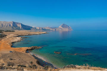 Nature Reserve Monte Cofano. San Vito cape location, Tyrrhenian sea. Sicilia, Italy, Europe
