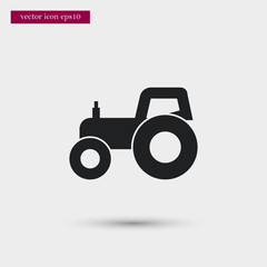 Tractor icon. Simple gardening element illustration. Vector symbol design from agriculture collection. Can be used in web and mobile.