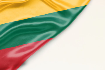 Flag of Lithuania with place for text