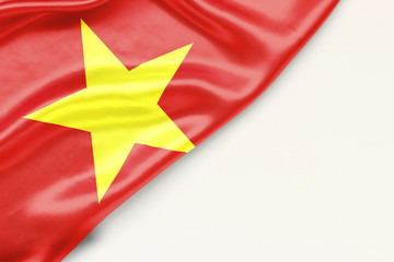 Flag of Vietnam with a place for text