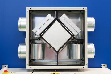 Fototapeta Opened Air Recuperator. Filtration and ventilation system obraz