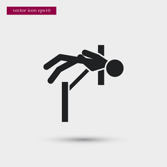 Gymnast icon. Simple sportsman element illustration. Athletics symbol design from sport collection. Can be used in web and mobile.