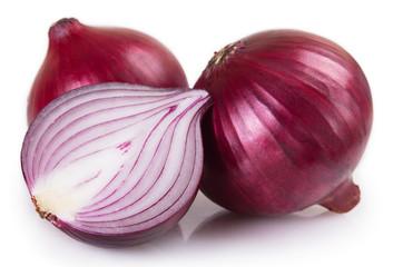 Fototapete - Fresh onion on white background