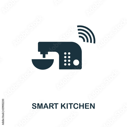 Smart Kitchen Icon Monochrome Style Icon Design From Smart Devices Magnificent Kitchen Web Design