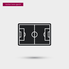 Stadium icon. Simple game element illustration. Arena symbol design from sport collection. Can be used in web and mobile.