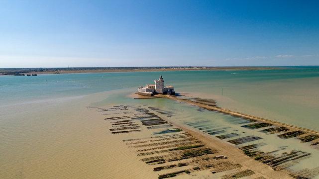 Photo aérienne du Fort Louvois en Charente Maritime