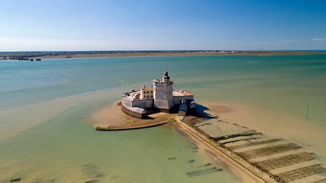 Photographie aérienne du Fort Louvois en Charente Maritime