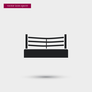 Boxing ring icon. Simple fight element illustration. Arena symbol design from sport collection. Can be used in web and mobile.