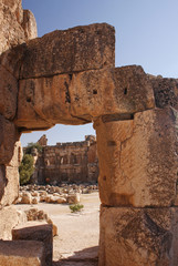 Roman ruins in Baalbek, Lebanon