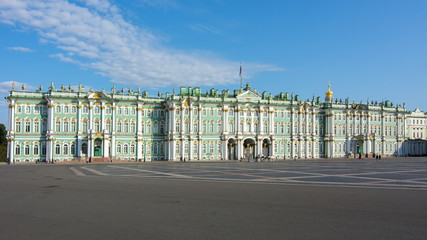 Winter Palace (Hermitage museum) on Palace square, Saint Petersburg, Russia