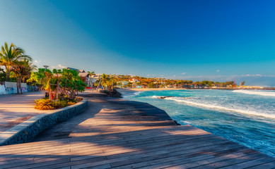 Beach of Roches Noires in Saint-Gilles-Les-Bains - Tourist place - Reunion Island