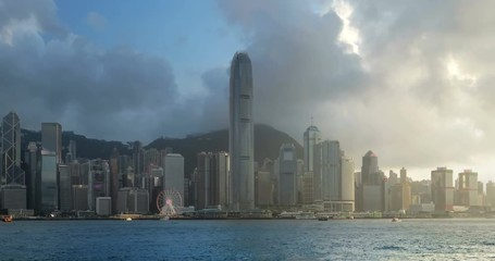Fototapete - Hong Kong sunset, China