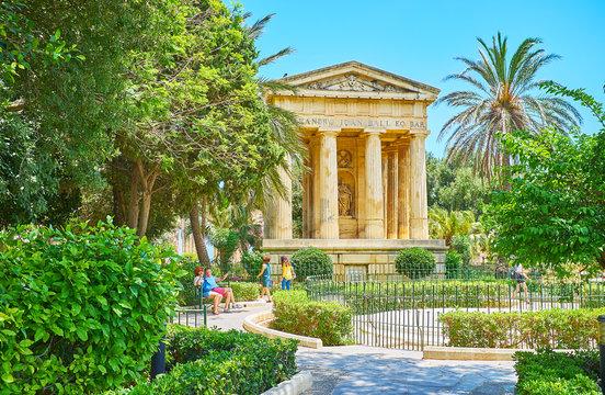 Lower Barrakka Gardens, Valletta, Malta