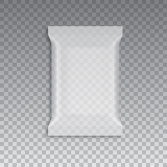 Blank of transparent flow packing. Vector