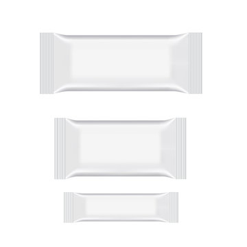 Blank of wet wipe flow packing. Vector