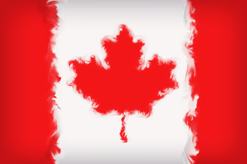 Beautiful Canada Flag Close Up