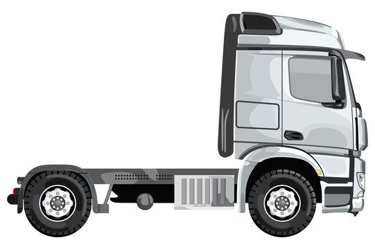 Gray side truck