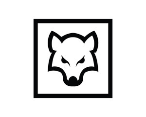 Silhouette of the wolf. Vector logo. wildlife. Wild wolf. Vector illustration.
