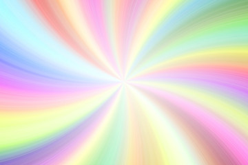 Light rainbow colorful transparent beams twirl festive empty background