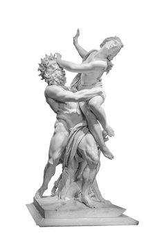 The Rape of Proserpina Bernini Masterpiece Isolated Photo