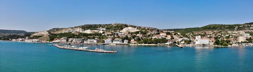 Balchik panorama view from the sea