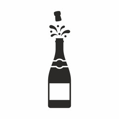 Champagne vector icon