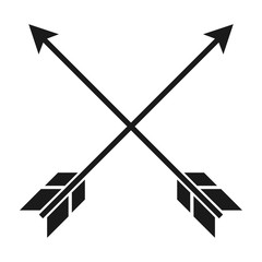 Simple, flat, crossed arrows icon. Isolated on white