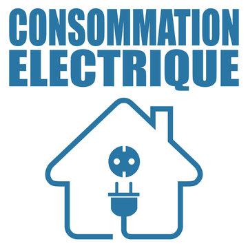 Logo consommation électrique.