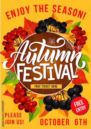 Autumn festival or picnic invitation poster stock image and royalty autumn festival or picnic invitation poster stopboris Choice Image