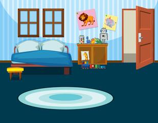 A kid bedroom template