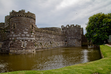 Ancient English castleAnd moat