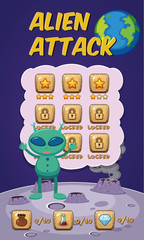 Alien attack game concept
