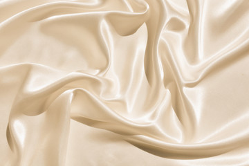 The texture of the satin fabric of beige color for the background  Wall mural