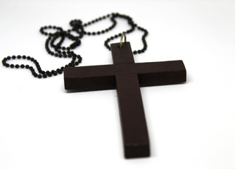Wooden Christian cross background. Christianity symbol. Christianity Concept. Faith hope love concept.