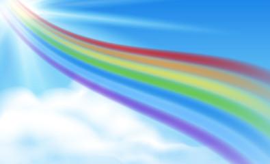 rainbow in the sky