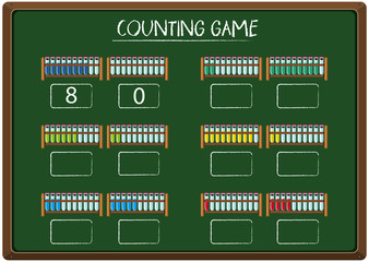 Counting game on blackboard