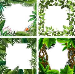 A set of nature leaf border