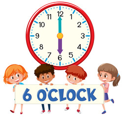 Children and time 6 o'clock