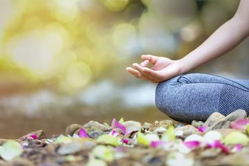 mind healthy lifestyle hand gesture