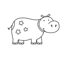Hippo Line Icon